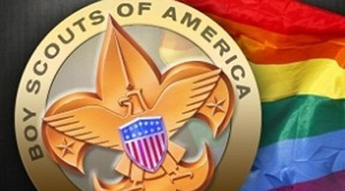 Boy Scouts and Gay Flag