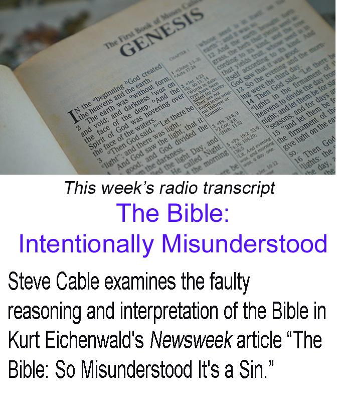 Bible Intentionally Misunderstood banner